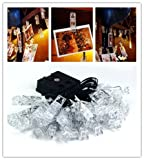 16FT LED Photo Clip String Lights Solar Energy with 30 Photo Clips Party/Christmas/Festival Decor (Warm White)