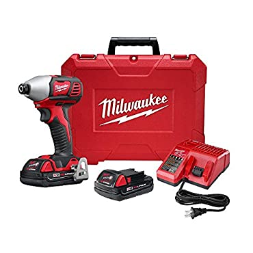 Milwaukee 2657-22CT M18 18-Volt 2-Speed 1/4-Inch Hex Impact Driver w / Batteries