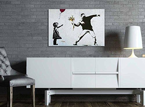 "Banksy Girl Skipping 24/""x36/"" Canvas Street Art Print"