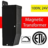 24 Volt Magnitude Magnetic Dimmable LED Driver Transformer Outdoor Power Supply 100 Watt