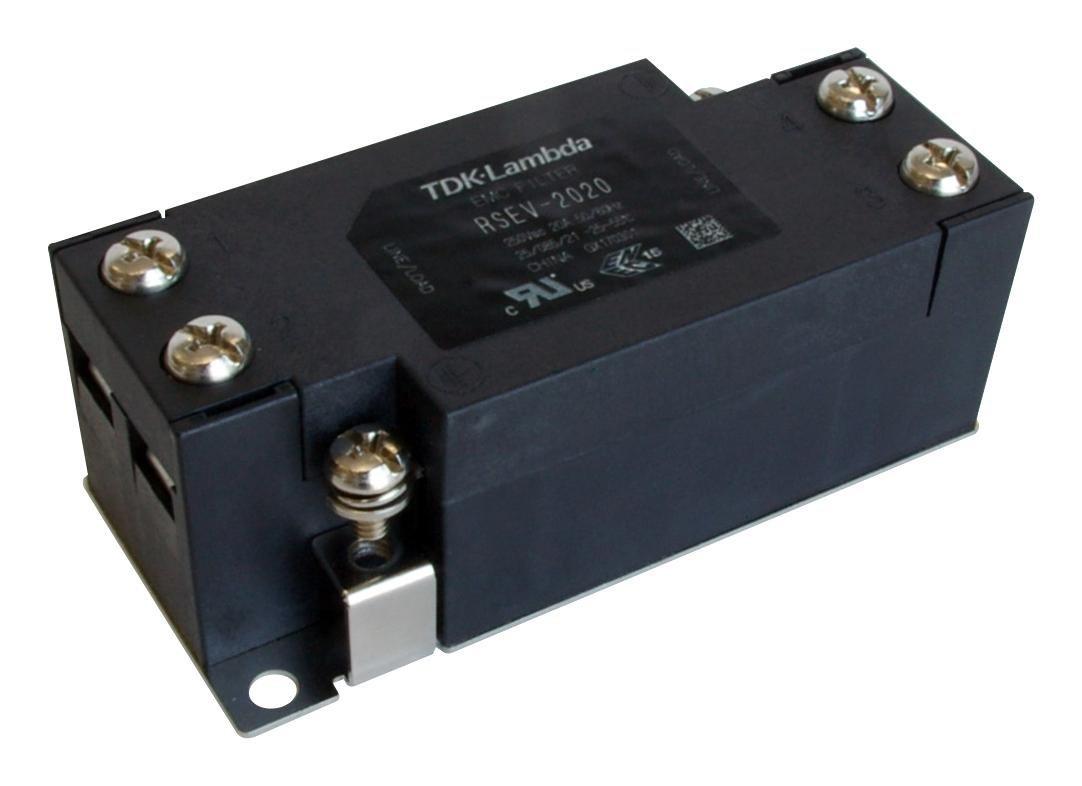 TDK-LAMBDA RSEV-2016 Power Line Filter, 1 Phase, 16 A, 250 V, Power Line, Terminal Block by TDK-Lambda