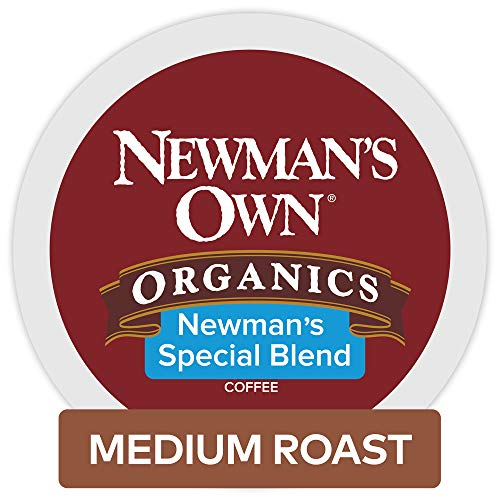 Roast Medium Keurig Coffee (Newman's Own Organics Special Blend Keurig Single-Serve Medium Roast Coffee K-Cup Pods, 32 Count)