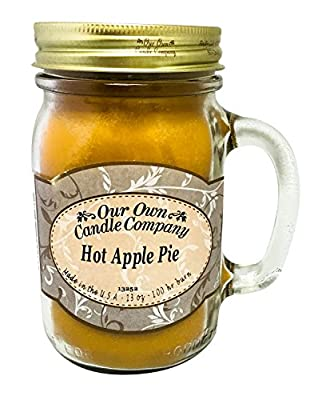 Hot Apple Pie Scented 13 Ounce Mason Jar Candle By Our Own Candle Company
