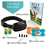 [No Shock] Best Bark Control Collar for Small & Medium Dogs - Anti Bark Vibrating Device - Humane No Harm Barking Deterrent