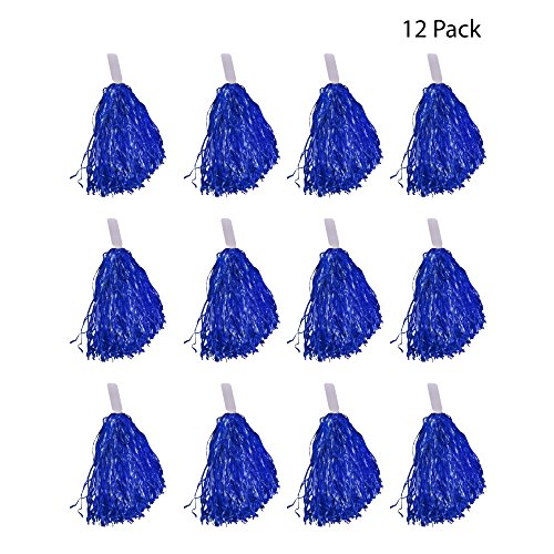 Windy City Novelties Cheerleader Pom Poms - 12 Pack -