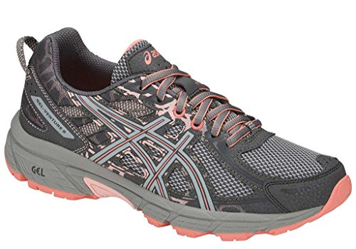 ASICS Gel-Venture 6 Women's Running Shoe, Carbon/Mid Grey/Seashell Pink, 8.5 W US