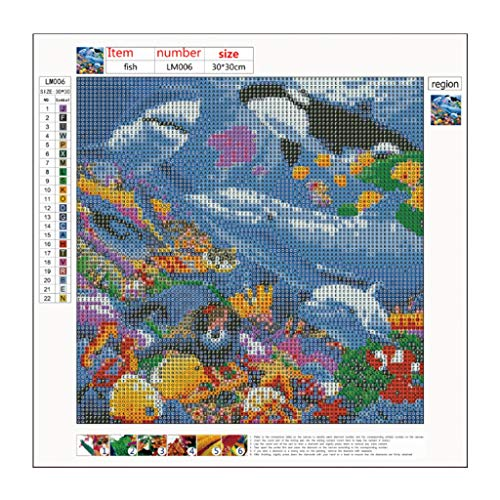 NOMENI 5D Embroidery Paintings Rhinestone Pasted DIY Moonlight Ocean Whale Painting Cross Stitch