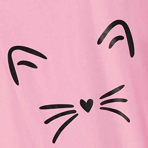 Sysnant Estate Blouse donna Casual Gatto Magliette estate tumblr Donna Elegante manica corta Camicie Tops Magliette donna Felpa Top stampa con Shirt T Crop Camicetta Pullover g6dtwAqx
