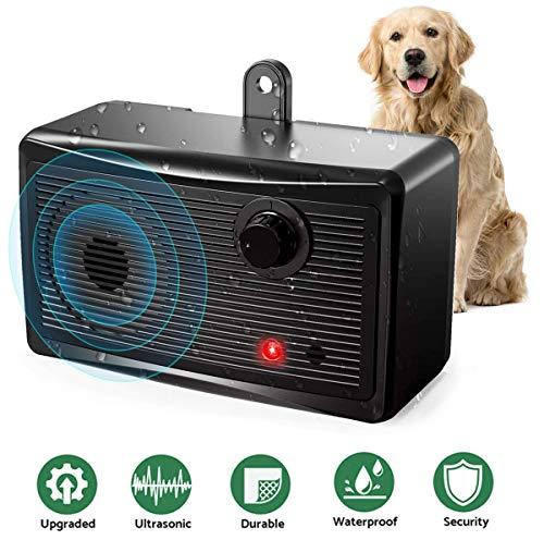 YC° Mini Anti Barking Device, Ultrasonic Stop Dog Bark Deterrents, Waterproof Outdoor Bark Control Device Safe Harmless…