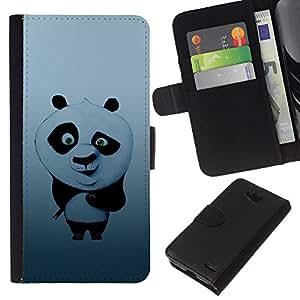 Stuss Case / Funda Carcasa PU de Cuero - Sushi lindo Panda - LG OPTIMUS L90