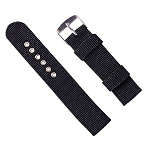 Classic Watch Straps 16mm 18mm 20mm 22mm 24mm Premium Replacement Nylon Watch Bands for Women Men