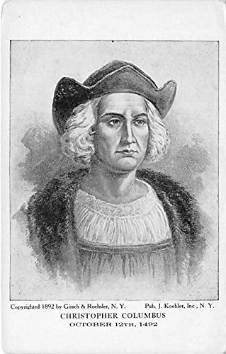 Christopher Columbus October 12, 1492 Famous People Postcard