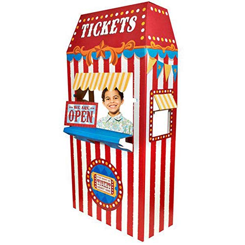 Carnival Games Party Supplies Decoration Ticket Booth Cardboard Stand Playhouse -