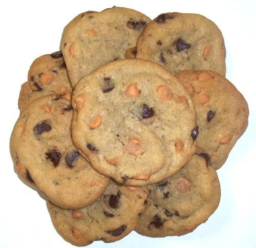 Scott's Cakes Chocolate Chip Cookies with Butterscotch Chips in a 1 Pound Clear Cello Bag (Butter Cookies Boxed)