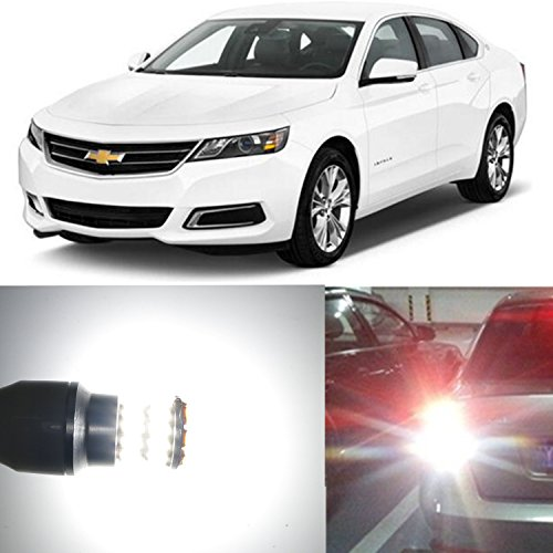 (Alla Lighting 2pcs Super Bright 6000K White 921 921K 921LL W16W LED Bulbs Back-Up Reverse Lights Lamps Replacement for for 2000~2011 2012 2013 Chevrolet Chevy Impala / 2014 2015 2016 Impala Limited)