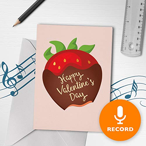 Musical Valentines Day Cards - Happy Valentines Day Card With Music | Musical Valentines Card, Love Musical Greeting Card, Sweet Musical Card 10267 (120 Second Recordable)