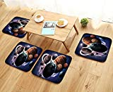 Elastic Cushions Chairs High Resolution Images Presents Planets of The Solar System for Living Rooms W29.5 x L29.5/4PCS Set