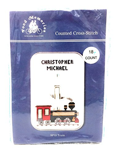 (Counted Cross Stitch Switchplate Cover - SP13 Train)
