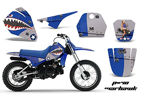 Yamaha PW80 1996-2006 MX Dirt Bike Graphic Kit Sticker Decals PW 80 WARHAWK BLUE