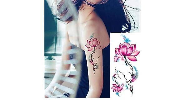 Handaxian 3pcs Rosa Pegatinas Arte del Tatuaje del Brazo del ...