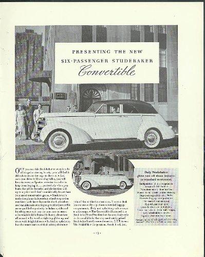 - Presenting the new Six-Passenger Studebaker Convertible Sedan ad 1938