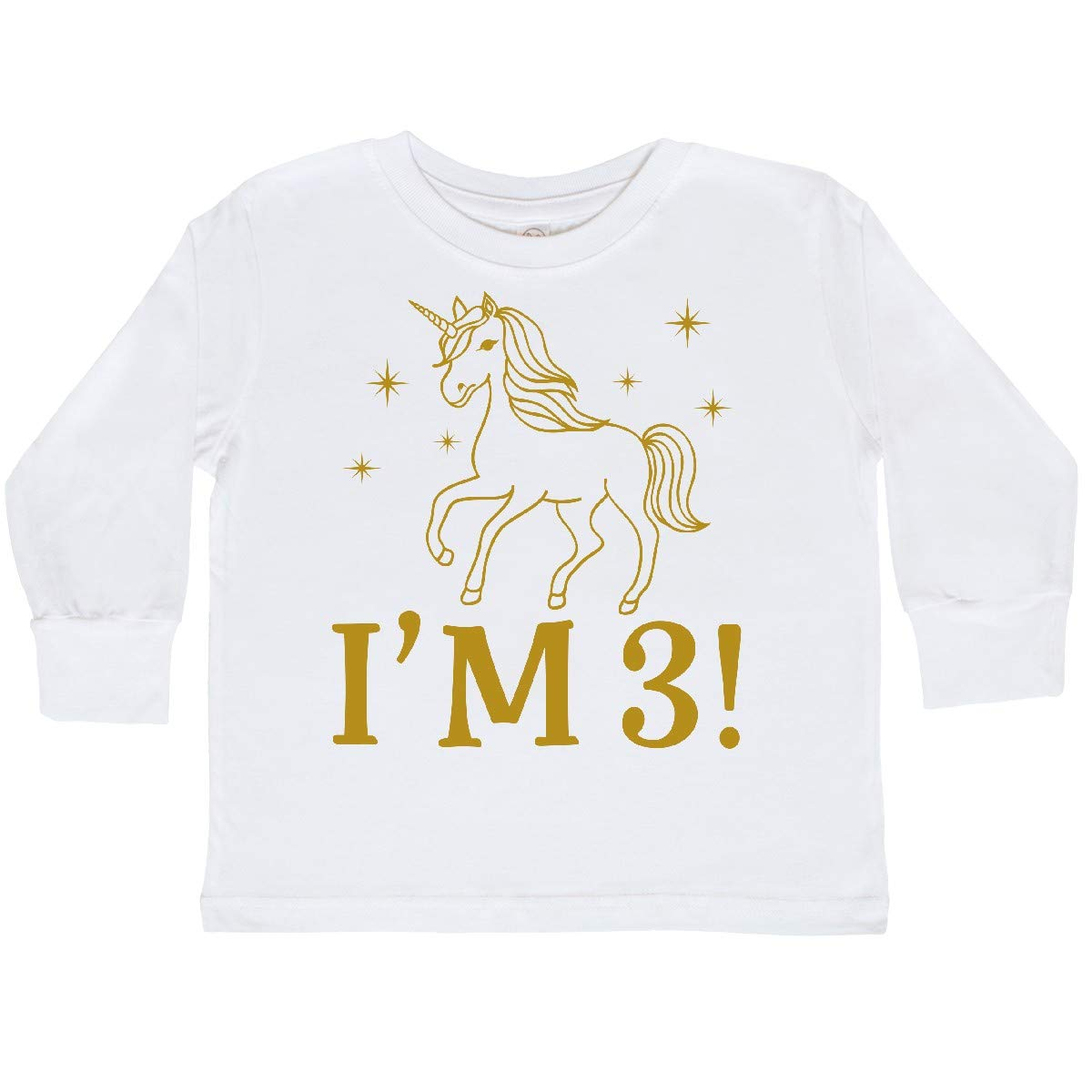 inktastic 3rd Birthday Outfit Unicorn Toddler Long Sleeve T-Shirt