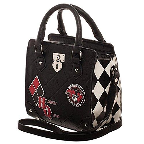 Quinn Purse Bag - DC Comics Harley Quinn Deluxe Mini Brief Handbag Purse Satchel