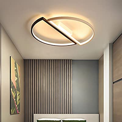 Modern Simple Led Ceiling Lights Fixture Dimmable Remote Control Flush Mount Ceiling Light for Living Room Bedroom with Remote Home Decoration Kitchen AC90-260V