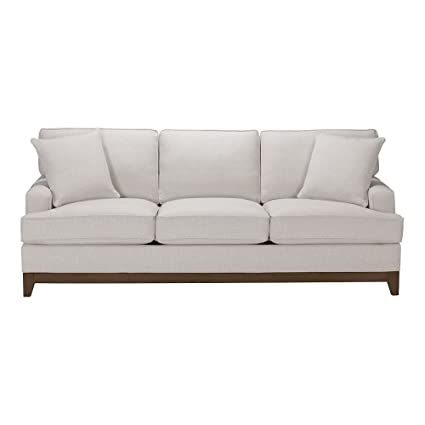 Ethan Allen Arcata Sofa, 87u0026quot; Sofa, Hailey Ivory Textured Fabric