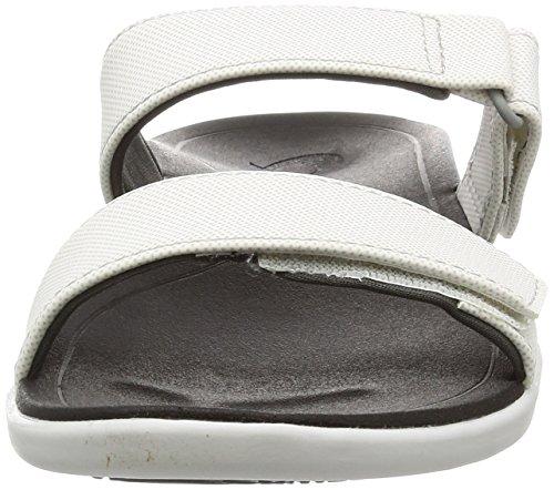 Olukai Kipuka - Sandali Da Donna Comfort Slide Bianco / Nero