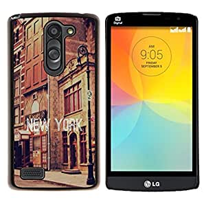 - New York City - - Cubierta del caso de impacto con el patr??n Art Designs FOR LG L Bello L Prime D337 Queen Pattern