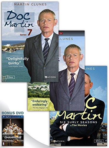 Doc Martin, Series 7 DVD + Doc Martin: Series 8 DVD + Doc Martin: Six Surly Seasons + The Movies DVD Box Set with Bonus DVD by ACORN-MEDIA