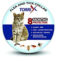 TORRIX Cats Flea And Tick Collar – 8-Month Flea Prevention Cat Collar – Adjustable And Waterproof Cat Flea And Tick Control