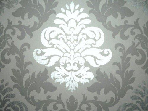 rasch 148213 papiertapete muster ornament silber grau amazonde baumarkt - Silber Tapete
