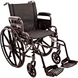 Roscoe Medical K41816DHFBSA K4-Lite Wheelchair with Swing Away Footrests, 18