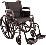Roscoe Medical K41816DHFBSA K4-Lite Wheelchair with Swing Away Footrests, 18''