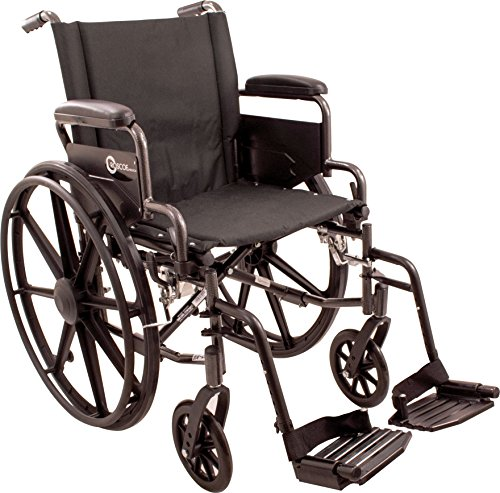 Roscoe Medical K42016DHFBSA K4-Lite Wheelchair with Swing Away Footrests 20