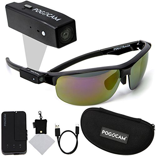 Pogocam Wearable Camera  Pogotec Ags Black Pacific Frames And Polaroid Micro Fiber Cloth With Case