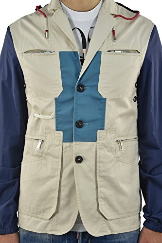 Dsquared2 Men's Fabric Jacket with Waterproof Sleeves - size 50