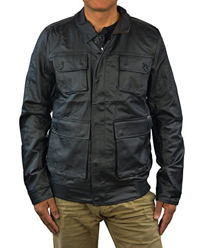 Jackets Alpine Leather (Alpinestars Mens Daikanyama Faux Leather Moto Jacket, Medium, Black)