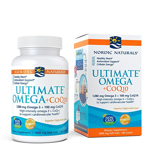 Smart Omega 3 - Nordic Naturals - Ultimate Omega +CoQ10, Support for the Heart's Overall Energy Needs, 60 Count
