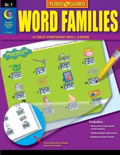 Word Families, Turn & Learn Gr. 1