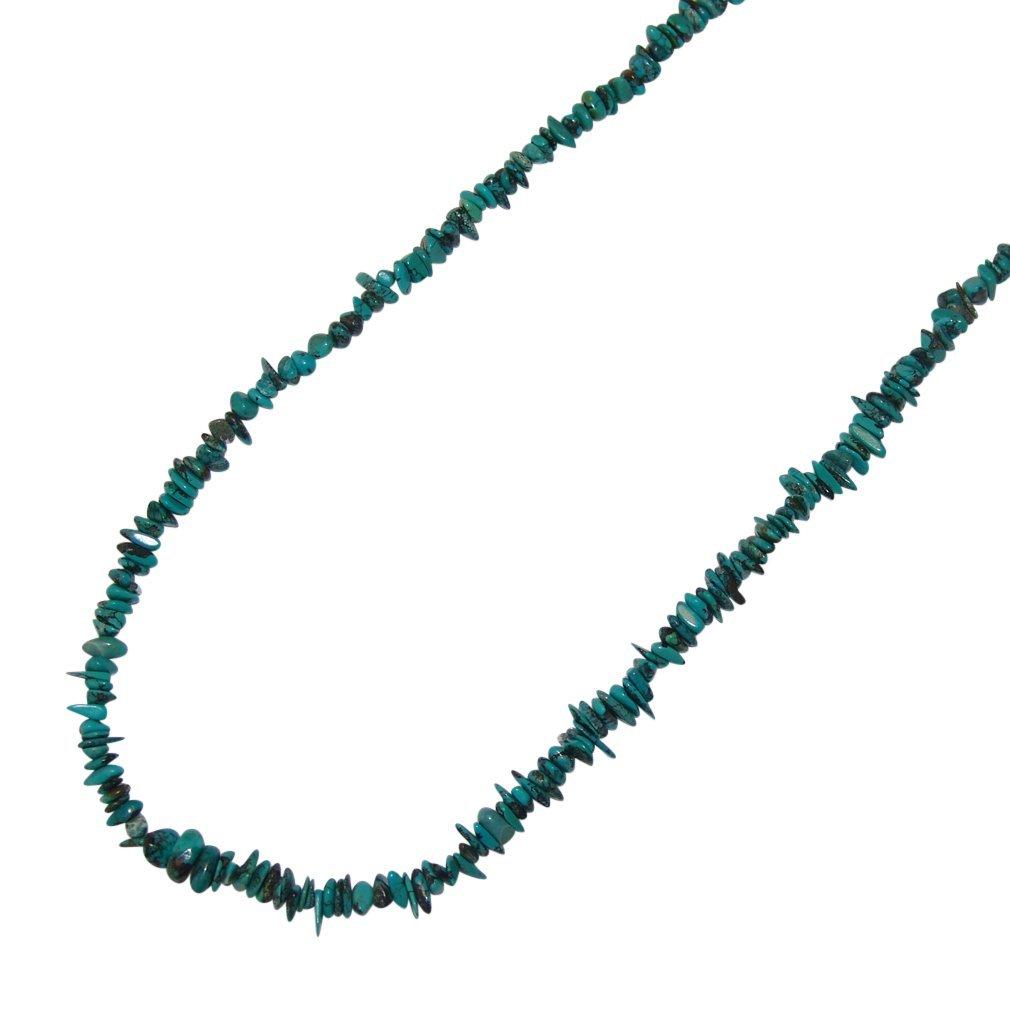 1 Stück Türkis Splitter Kette grün echte Edelsteinkette 90 cm Länge endlos ohne Verschluss.(4718) Janni-Shop®