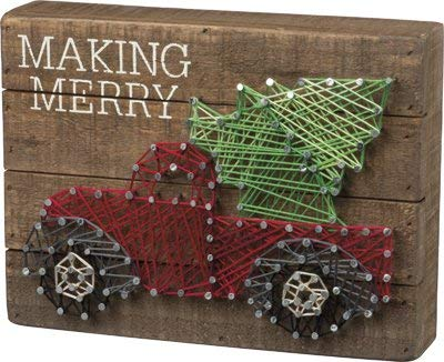 Christmas String Art (Primitives By Kathy, String Art - Make)
