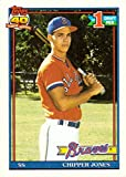 #6: 1991 Topps Baseball #333 Chipper Jones Rookie Card