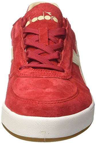 Diadora B.Elite Nub, Sneaker Uomo Rosso (Rosso Pompeianobianco)