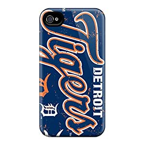Iphone 4/4s CBL17247YdRC Unique Design HD Detroit Tigers Skin Scratch Protection Hard Cell-phone Cases -CharlesPoirier