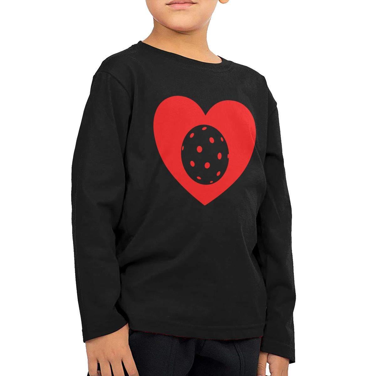 Toddler Kids I Love Pickleball Heart Printed Long Sleeve 100/% Cotton Infants T Shirts