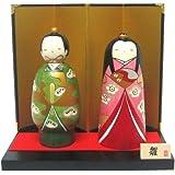 工芸品 海外向け おみやげ 手作り 卯三郎作 こけし 雛祭り 立ち雛セット 雛人形