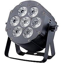 JMAZ LP76S - Crazy Par Hex 7 RGBWA+UV Aluminum Par Can Light for House DJ Stage Wedding Party Uplighting